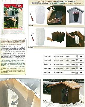 Puerta 3 de PVC 22 x 40 para caseta linda 3 y Clara 3: Amazon.es: Productos para mascotas