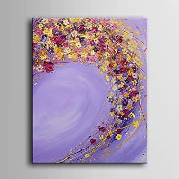 Blumen fliegen 100%Peinture à l\'huile Wall Art Decor Un dessin ...