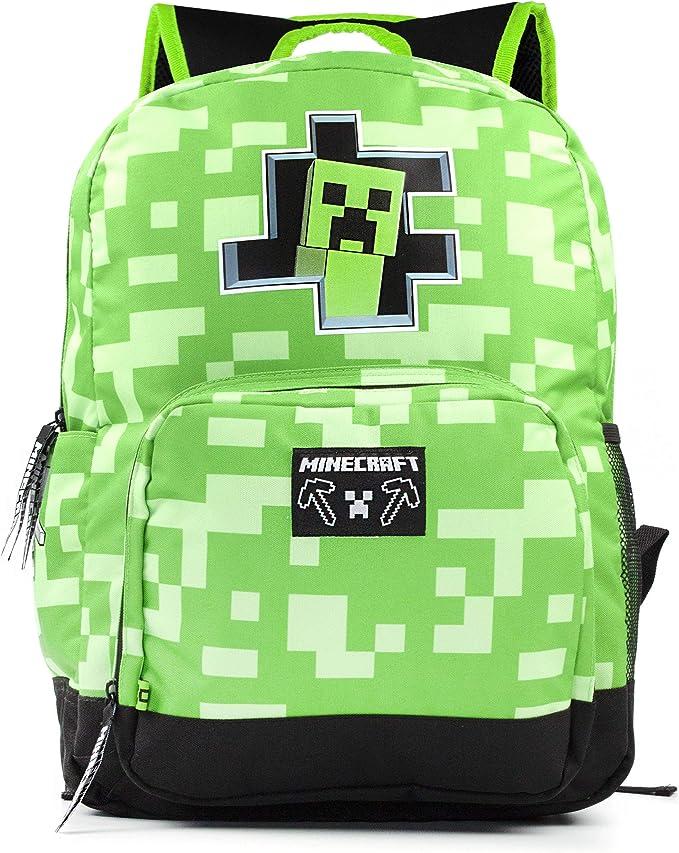 Minecraft Creeper Inside Kids Green School Mochila Mochila para niños: Amazon.es: Ropa y accesorios