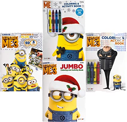 Minions Bendon Kids Children Nickelodeon Disney Assorted Characters Theme Coloring /& Activity Books