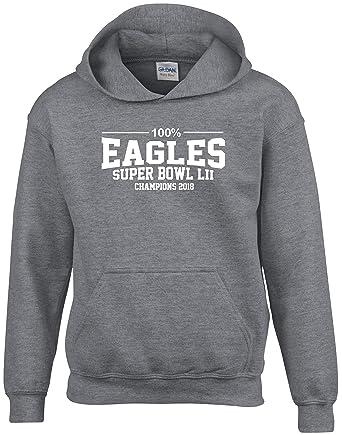 finest selection 86b11 4f488 100% Philadelphia Eagles Super Bowl Champions 2018 Hoodie ...