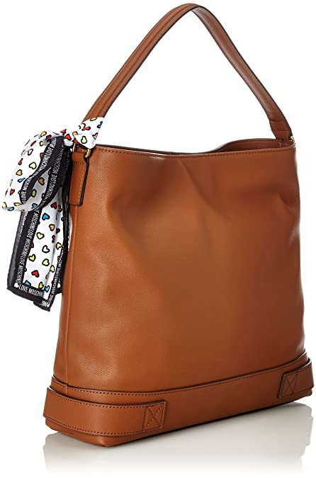 Nappa Grain Pu Cuoio, Womens Shoulder Bag, Brown (Hide), 10x32x36 cm (B x H T) Love Moschino