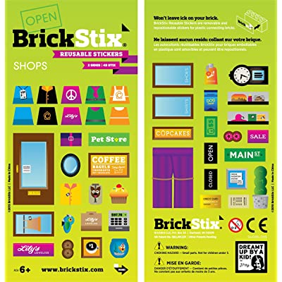 BrickStix Shops Reusable Stickers: Toys & Games