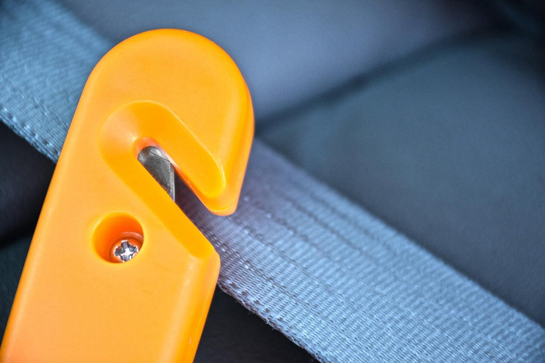 Window Breaker SE EH432 5-Inch 3-1 Emergency Hammer Built in Seat Belt Cutter