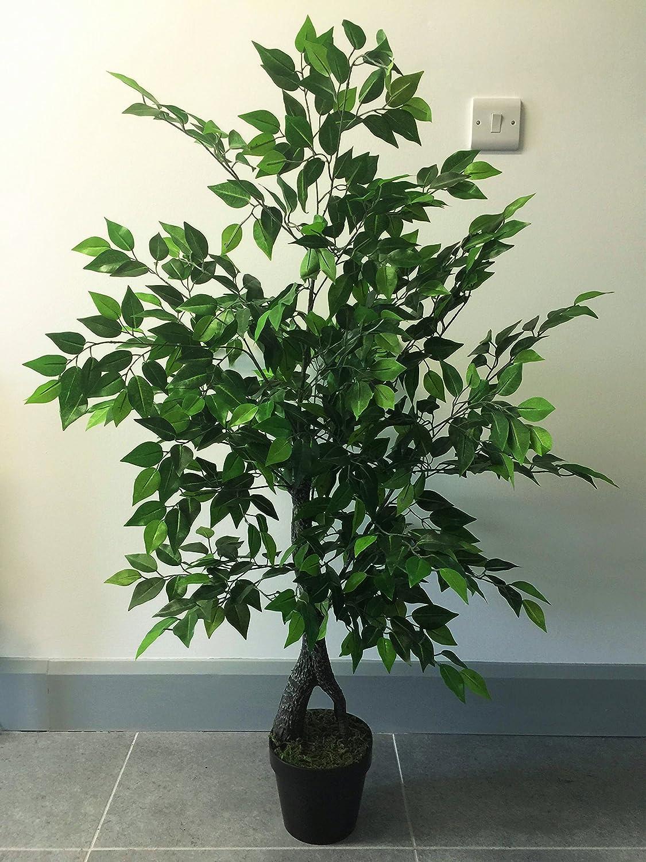 Best Artificial 120cm 4ft Deluxe Ficus Tree Indoor Outdoor Office Conservatory Garden Plant