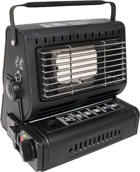 Fox Outdoor Gasheizer Mit Piezo-zündung - Hornillo para Acampada, Color Negro