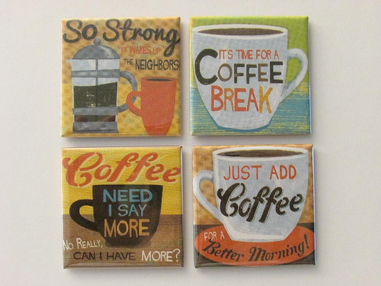 Retro Coffee Fridge Magnet Set Retro Coffee Refrigerator Magnet Set #1