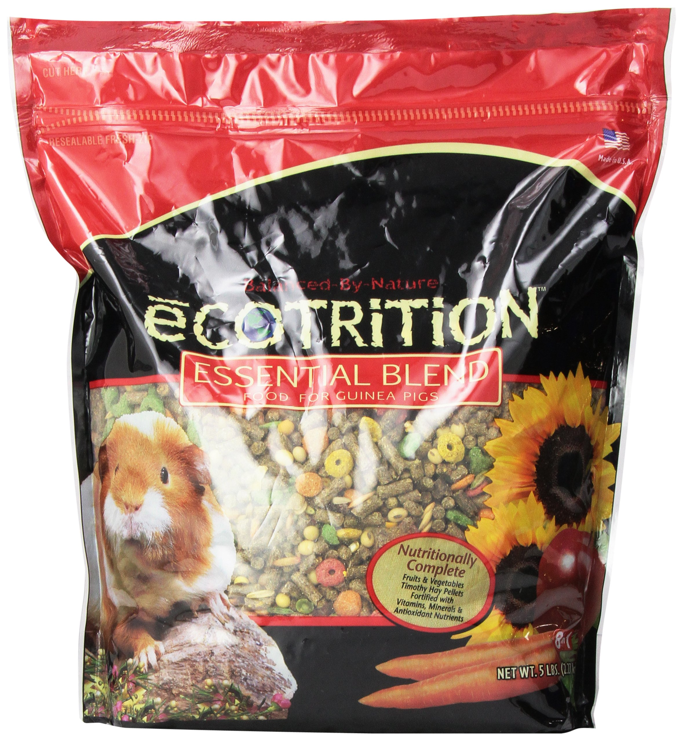 eCOTRITION Essential Blend Food For Guinea Pigs, 5-Pound