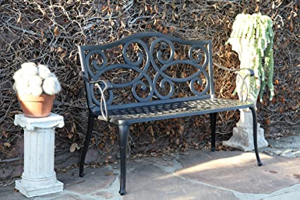 Outdoor Patio Bench Cast Aluminum Furniture Patio Deck Bench CBM1290
