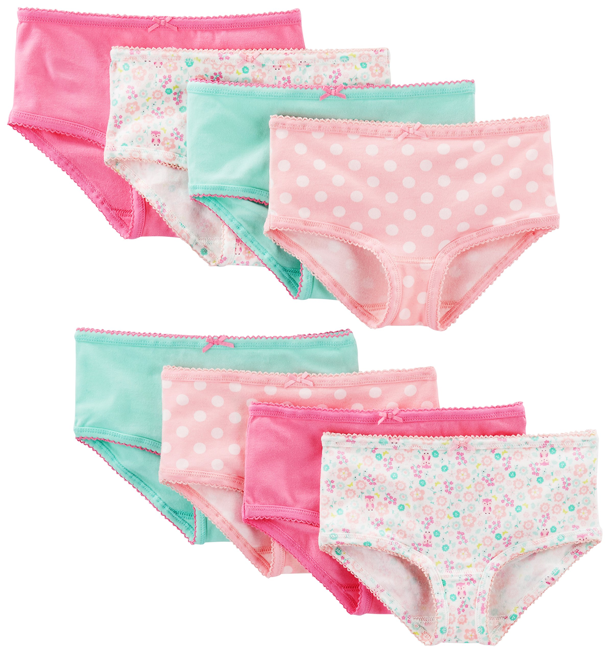 Simple Joys by Carters Little Kid and Toddler Girls 8-Pack Underwear