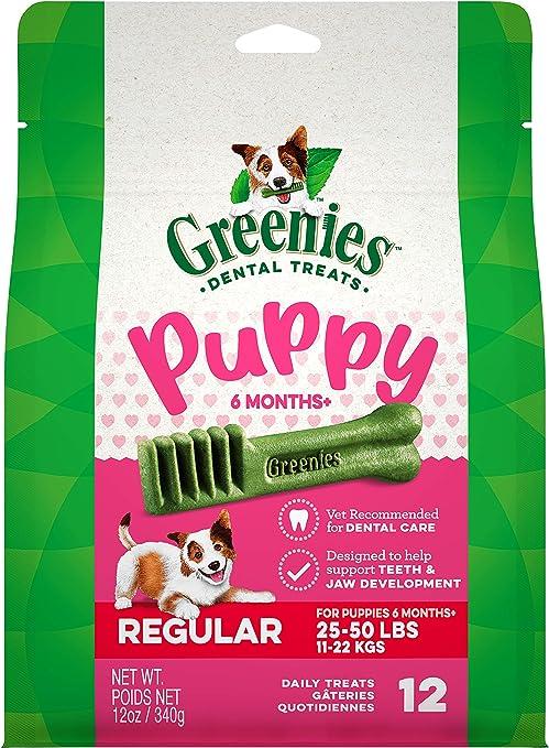 GREENIES Puppy 6+ Months Natural Dental Dog Treats