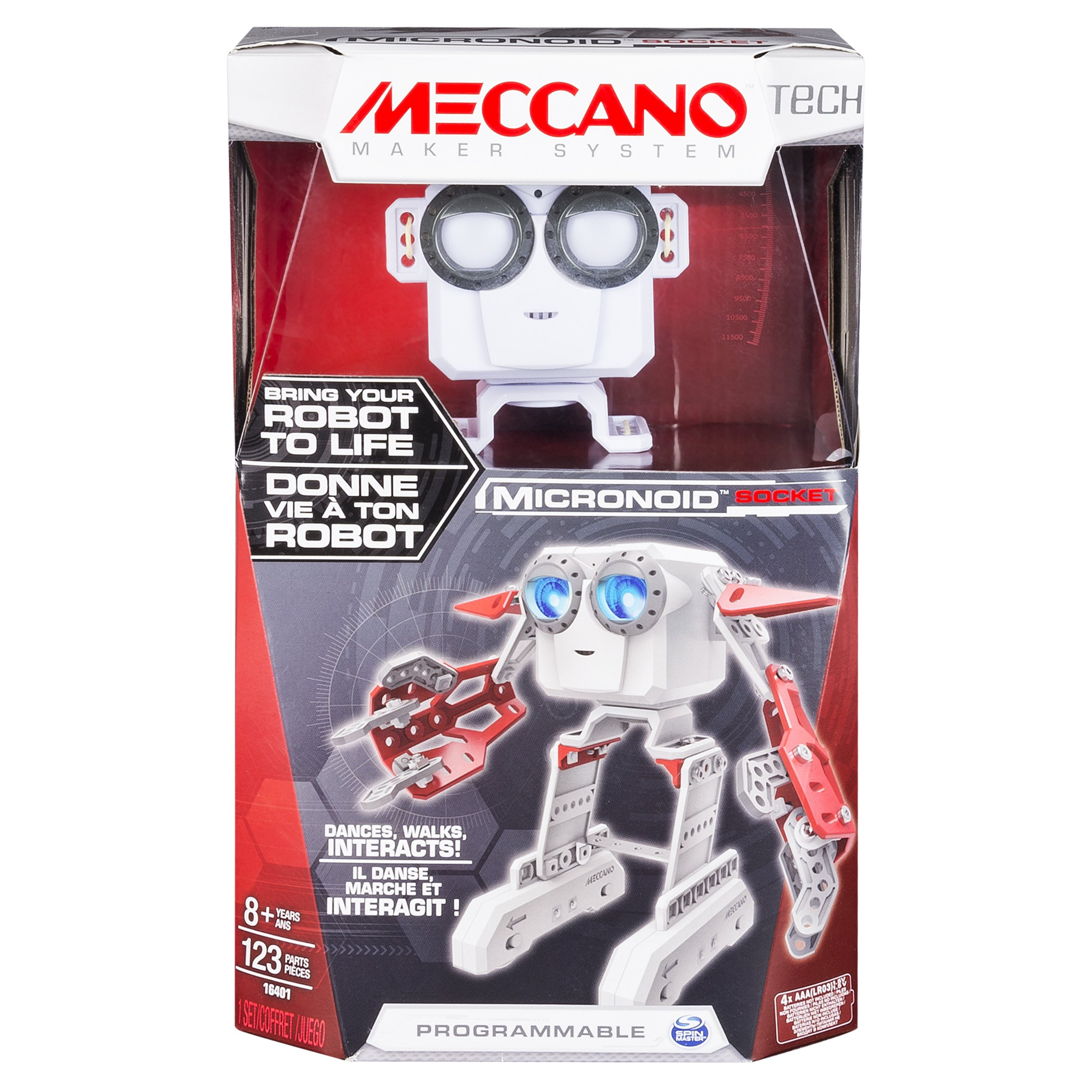 Meccano Micronoid - Red Socket