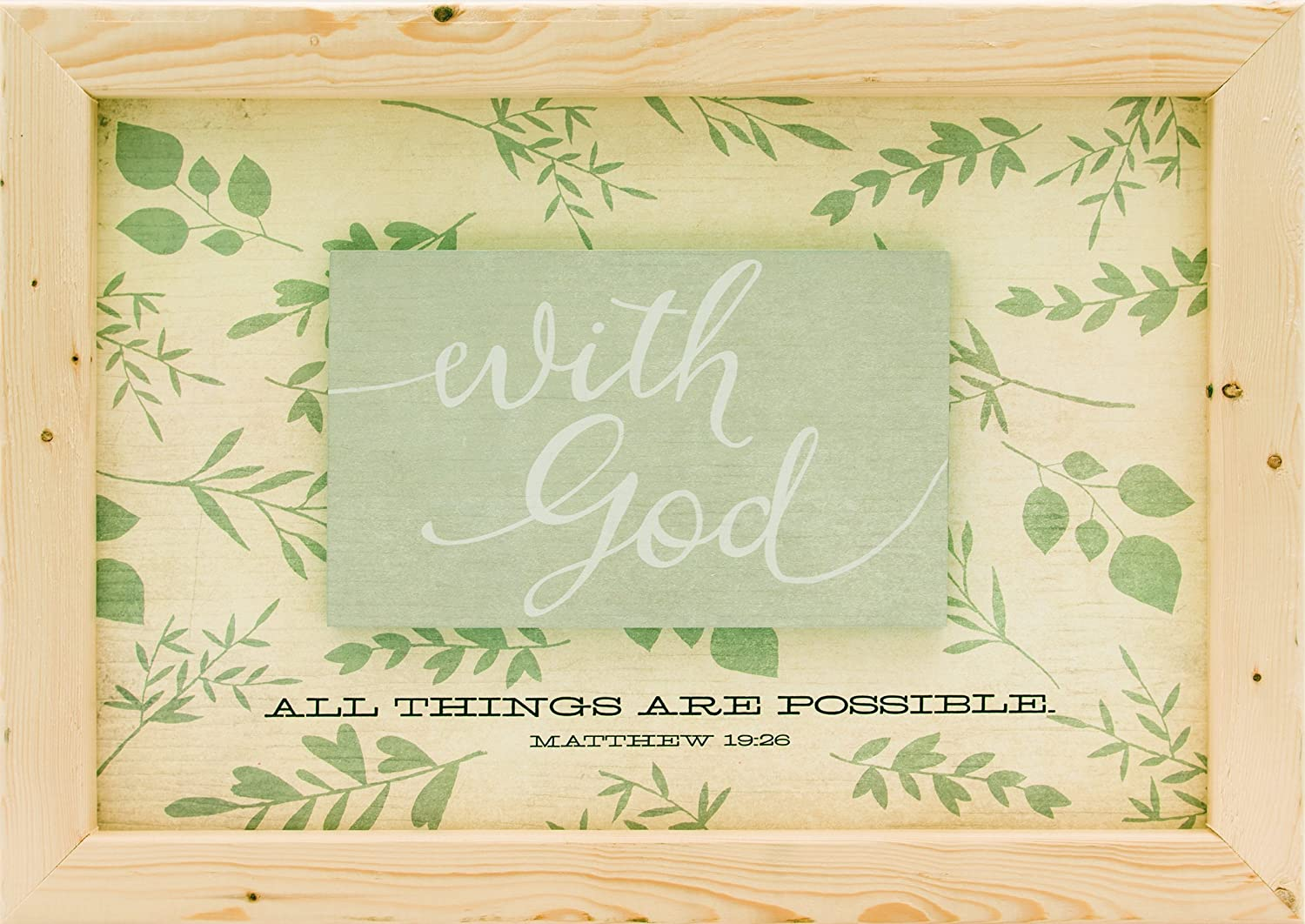 Carpentree God Framed Plaque Multi