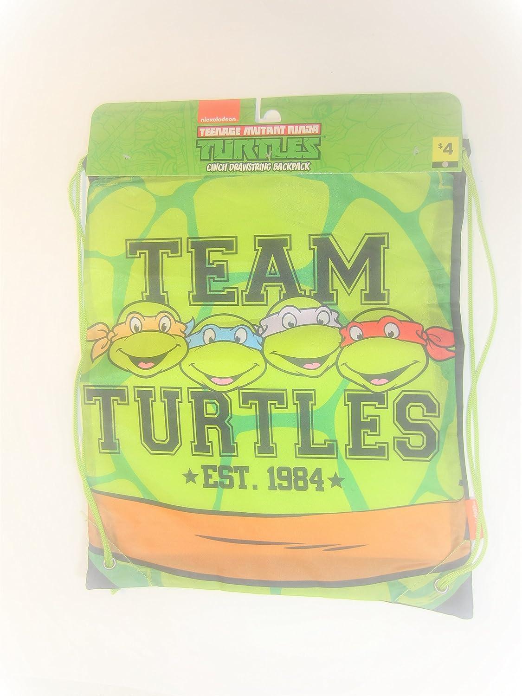 Teenage Mutant Turtle Cinch Drawstringバックパック – チームTurtle Est。1984   B071Y1GTDC
