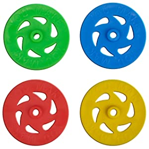 "Plastic Project Wheels with 1/8"" hole - Pack of 100 pcs"