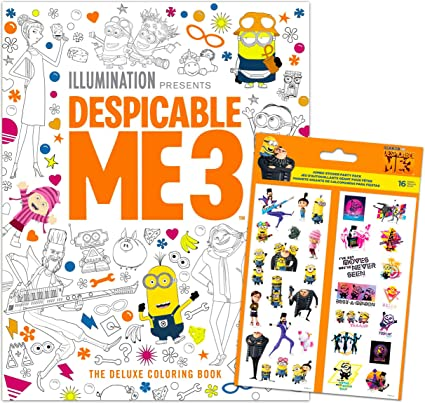 - Amazon.com: Despicable Me Minions Coloring Book Bundle - Advanced Coloring  For Teens Kids With Stickers (Despicable Me Party Supplies): Arts, Crafts &  Sewing