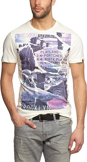 BLEND - Camiseta para Hombre, Talla 56, Color Blanco 005: Amazon.es: Ropa y accesorios