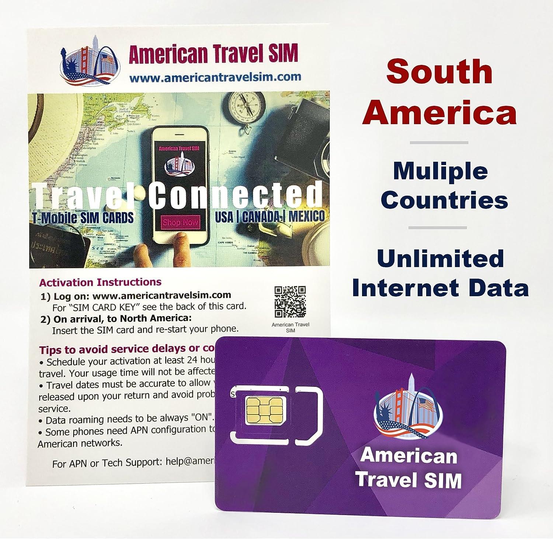 Tarjeta SIM Prepago: Estados Unidos y Sudamérica, Datos de Internet ilimitados, Llamadas ilimitadas y texto: Amazon.es: Electrónica