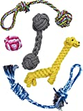 Dog Rope Chew Toys, Promotes Healthy Chewing while Keeping Your Petz Occupied and Entertained, Best for Small to Medium Dogs.