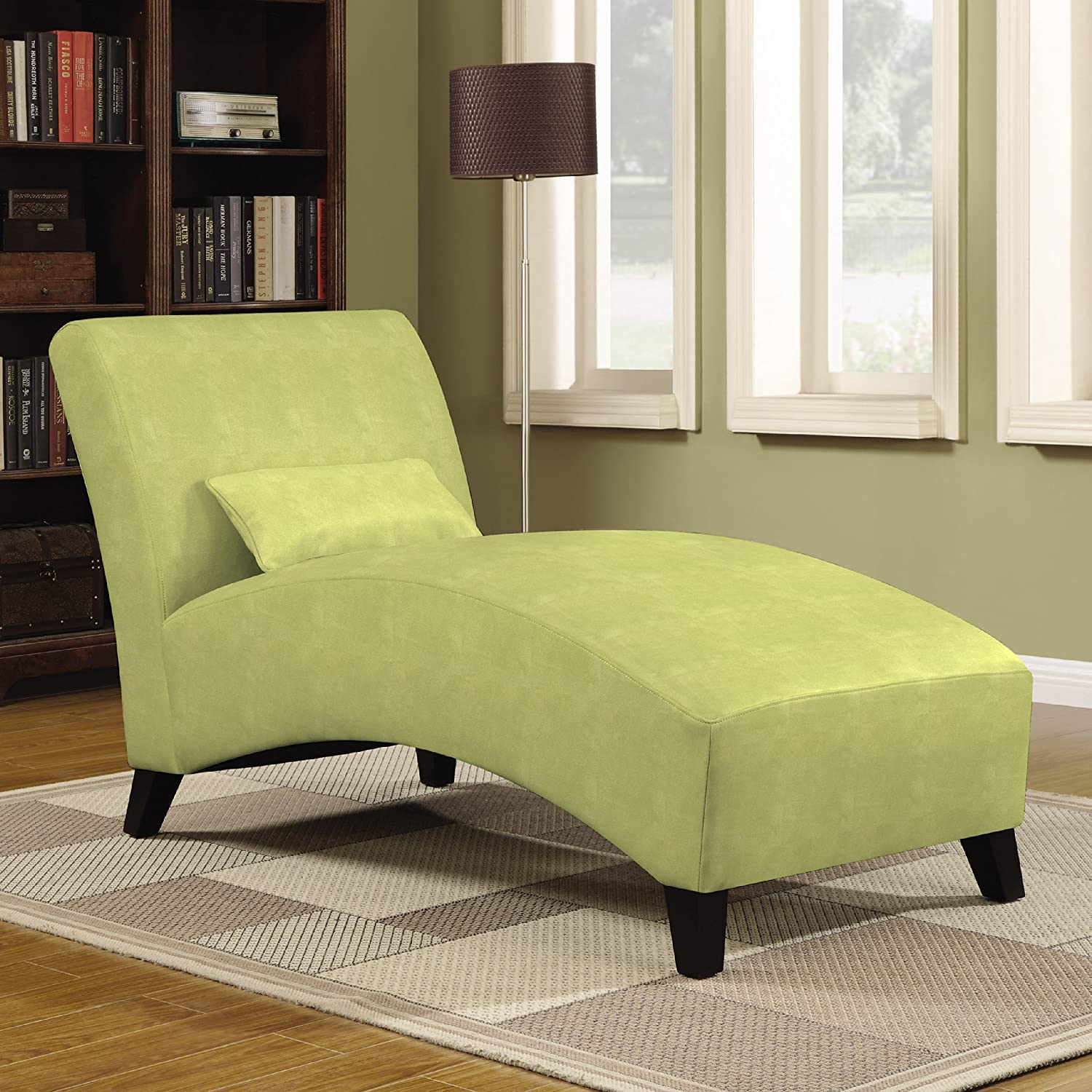 Amazon.com: Handy Living Chaise Lounge Chair, Gecko Green: Kitchen ...