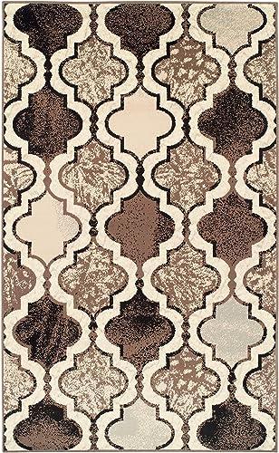 Superior Viking Area Rug, Bold Trellis Vintage Pattern, 9 x 12 , Ivory