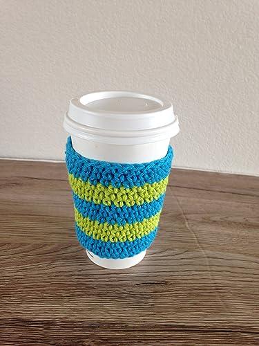 Amazoncom Crochet Cup Cozy Coffee Cup Sleeve Reusable Coffee
