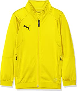 Puma Liga Training Jacket Jr, Giacca Tuta Unisex-Bambino, Cyber Yellow/Black, 152 655688
