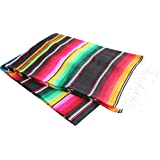 Del Mex Mexican Serape Blanket (Assorted Sizes & Colors)