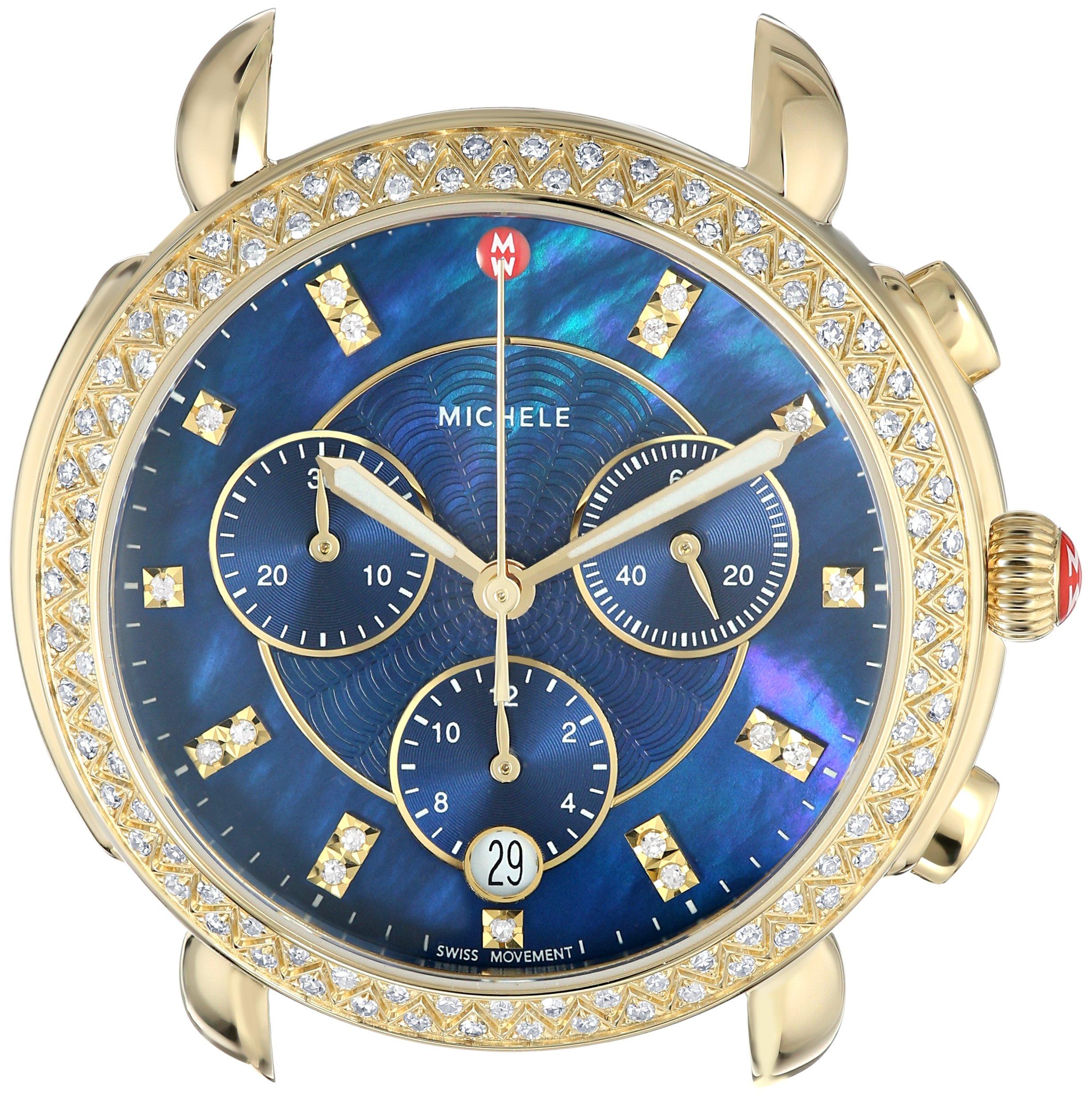 MICHELE Women's 'Sidney Head' Swiss Quartz Stainless Steel Casual Watch(Model: MW30A01B0956)