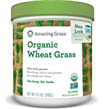 Amazing Grass Organic Wheat Grass Powder, 30 Servings, 8.5oz, Greens, Detox, Immune Support, Alkalize, whole leaf, vitamin K, Gluten Free, GMO Free, Kosher, wheatgrass, vegan