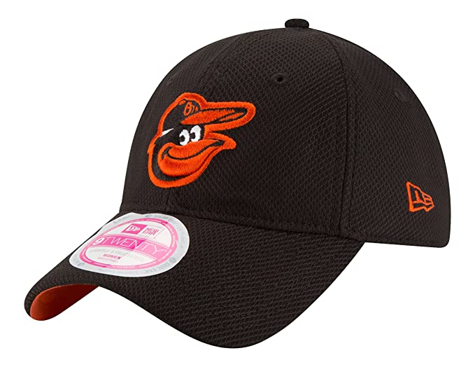 best website f493a ed2bc New Era MLB Baltimore Orioles Women s Tech Essential De 9Twenty Adjustable  Cap, One Size,