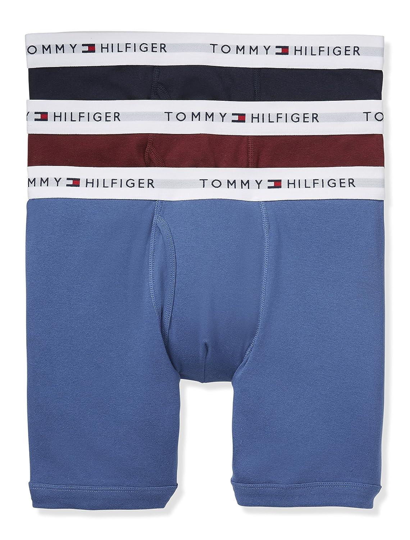 TOMMY HILFIGER(トミーヒルフィガー) ボクサーパンツ 3枚セット お買い得 パック メンズ 男性用 下着 09TE015 [並行輸入品] B06Y937KS9 Small|Hazy Blue Hazy Blue Small