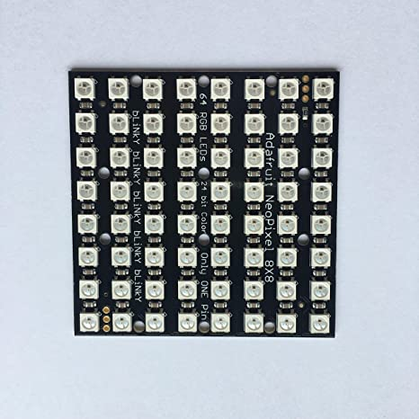 Adafruit NeoPixel NeoMatrix 8x8-64 RGB LED Pixel Matrix [ADA1487]
