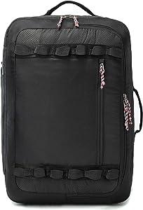 TRAILKICKER 38L Travel Backpack Flight Approved Carry On Backpack Water Resistant Weekender Bag for Men & Women Business Executive (38L, Black)