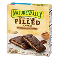 Deals on Nature Valley Soft Baked Filled Squares Cocoa Peanut Butter, 7.1 oz