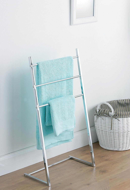 Premier Housewares Floor Standing 3 Bar Sloping Tubular Towel Stand ...