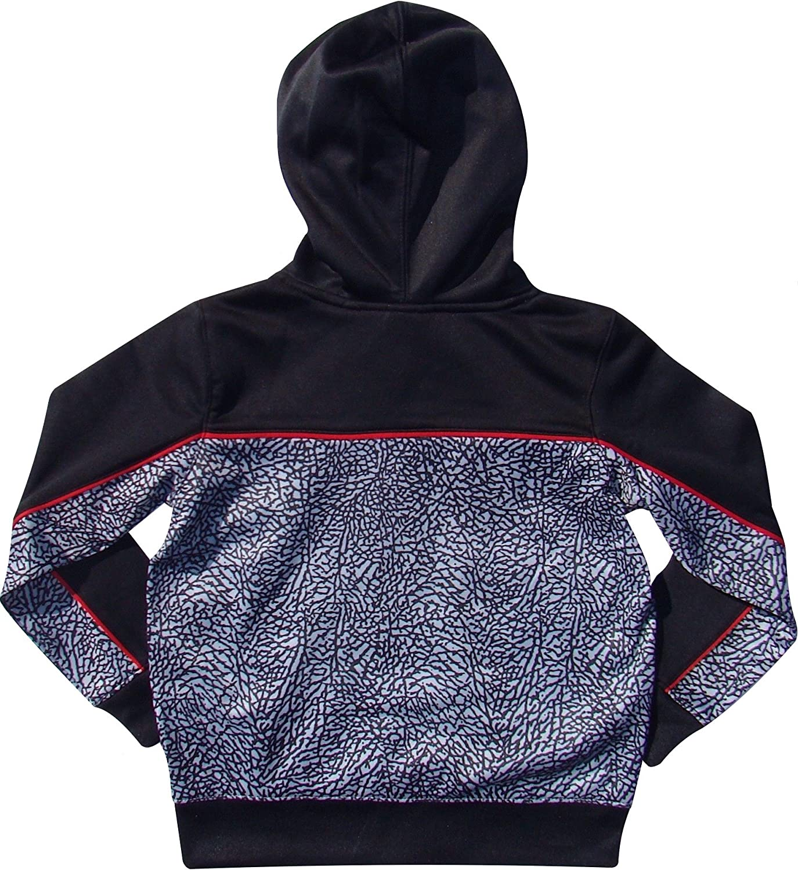 cb30e04fdd0b4d Amazon.com  NIKE Boys Jordan Therma-Fit Elephant Print Hooded Jacket   Sports   Outdoors