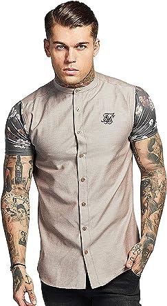 Camisa Manga Corta Siksilk – S/s Contrast Oxford Beige/Carbón/Multi Talla: XL (X-Large): Amazon.es: Ropa y accesorios