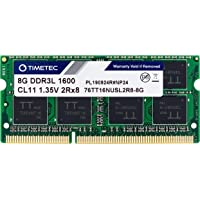 Timetec Hynix IC 8GB DDR3L 1600MHz PC3-12800 Tamponsuz Non-ECC 1.35V CL11 2Rx8 Dual Rank 204 Pin SODIMM Laptop/Not…