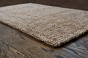 milliard handspun 3u0027 x 5u0027 natural area jute rug thick and sturdy
