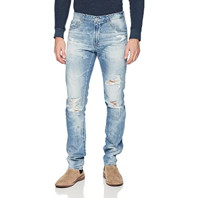 AG Adriano Goldschmied Men's Tellis Modern Slim Fit 100% Cotton Lgn Denim: Clothing