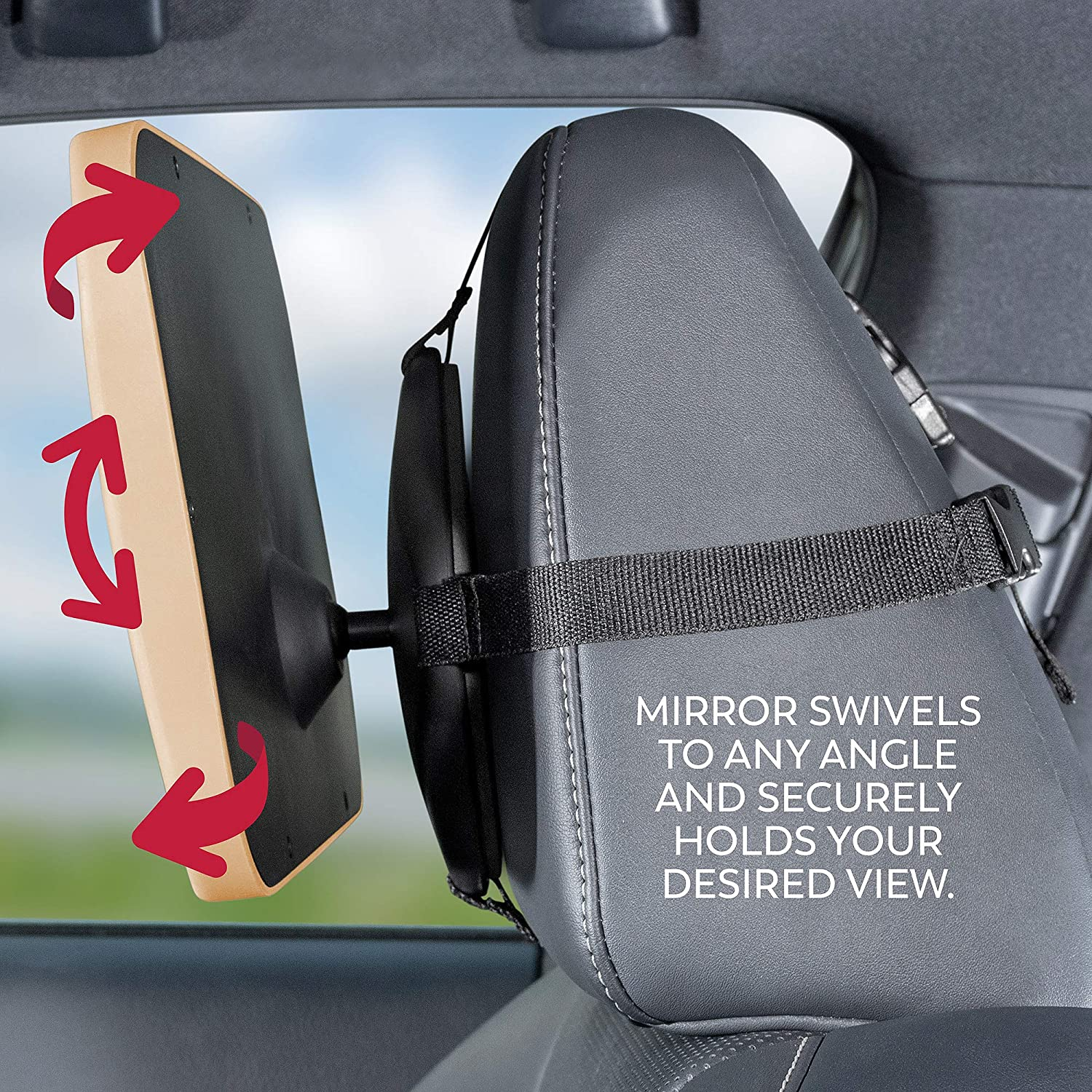 Baby Backseat Mirror for Car Secure and Shatterproofvcv Safe Crystal Clear View of Infant in Rear Facing Car Seat Largest and Most Stable Mirror with Premium Matte Finish