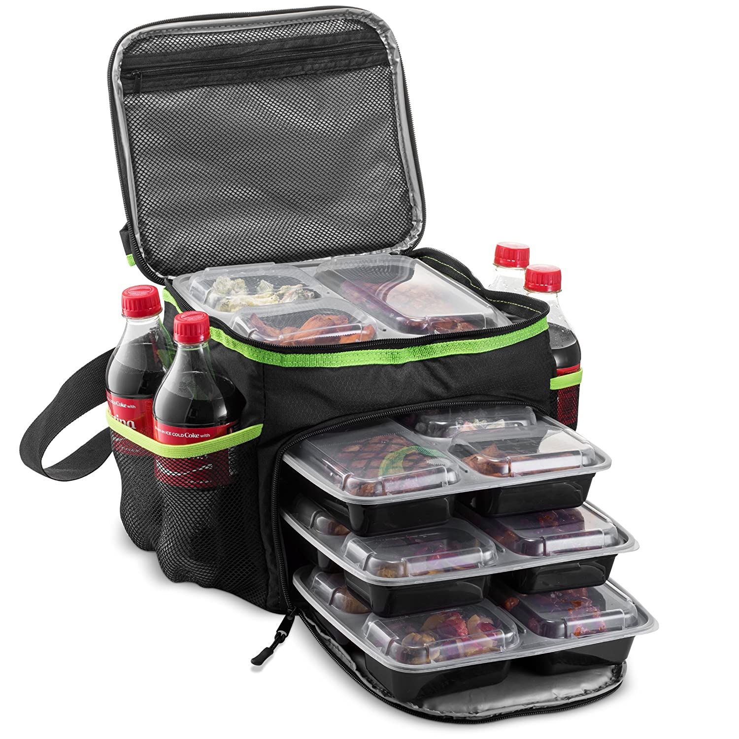 Outdoorwares Cooler Bag Insulated Large Capacity Bag Durable, Insulated Tote to Keep Foods and Drinks in The Right Temperature (11 x 10 x 9 Inches)