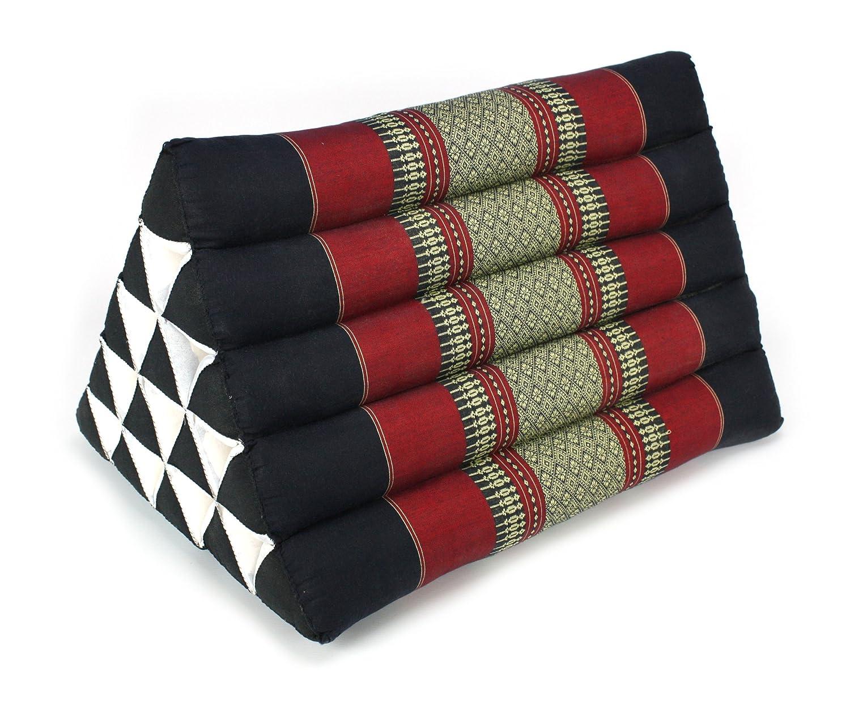 Cojin tailandes: Modelo rojo y Negro Jumbo cojin triangulo ...