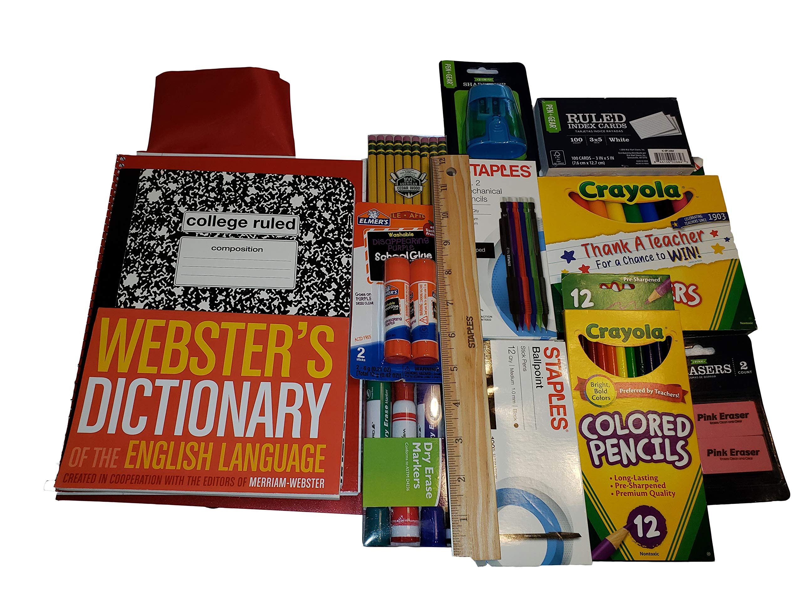 School Supplies Bundle with Dictionary Grades 3-5