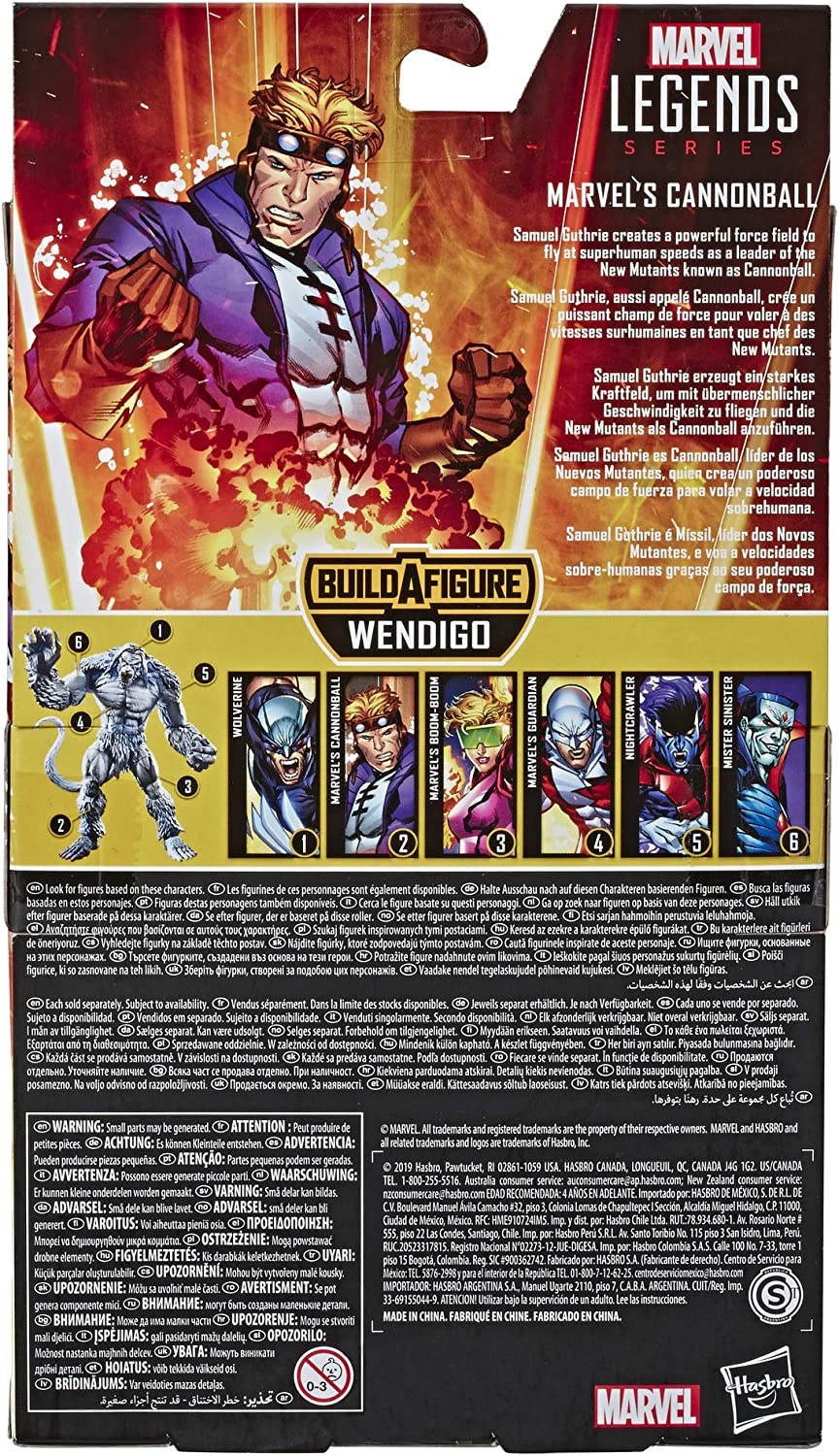 X-Men//X-Force Collection Marvel Hasbro Legends Series 6 Collectible Action Figure Guardian Toy with Wendigo Build-A-Figure Part
