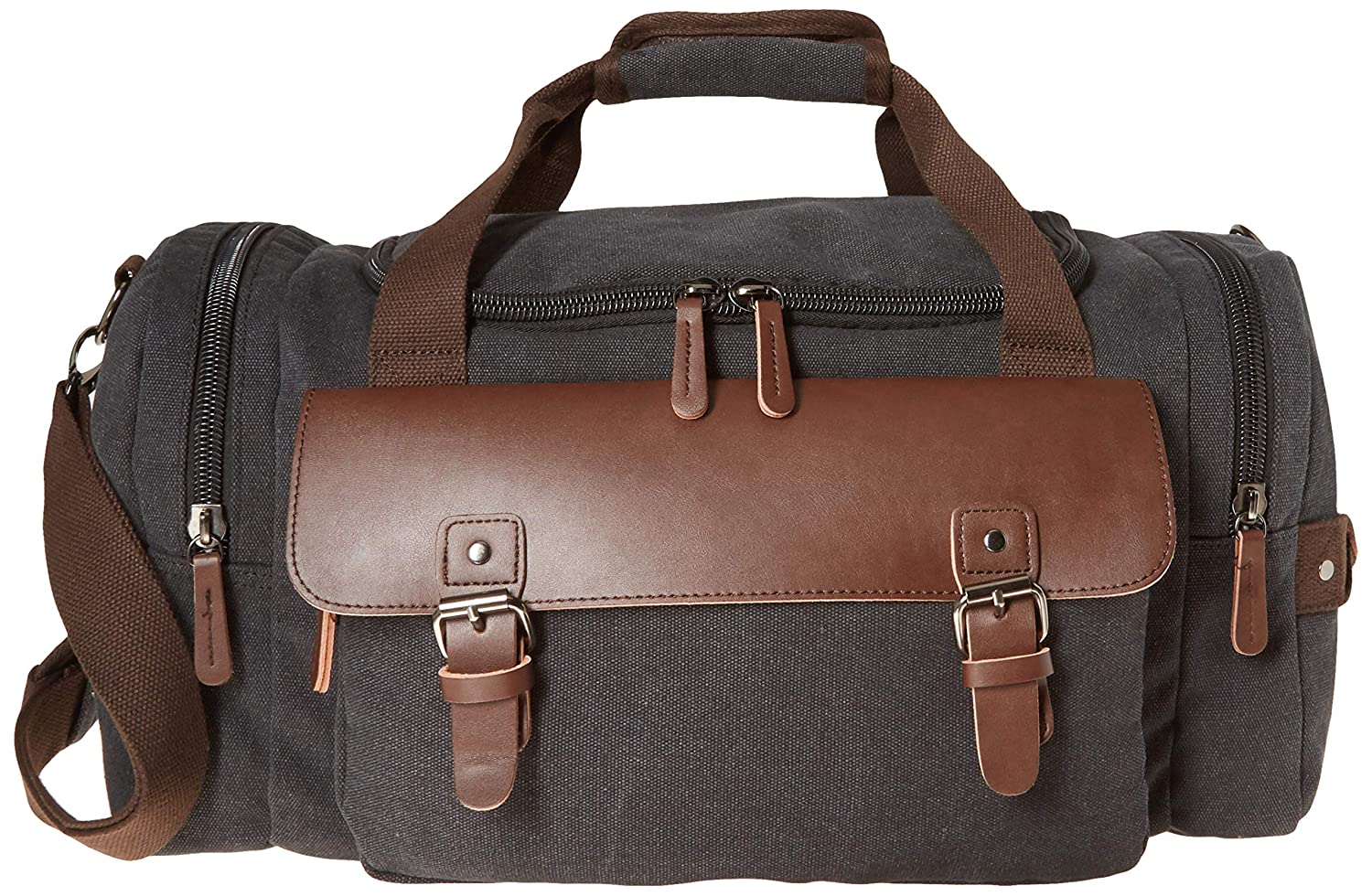 d5c9d5aa61f683 Canvas Duffel Bag, Aidonger Vintage Canvas Weekender Bag Travel Bag Sports  Duffel with Shoulder Strap (Black21): Amazon.ca: Luggage & Bags