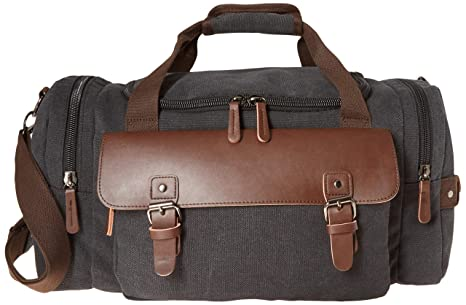 Image Unavailable. Image not available for. Colour  Canvas Duffel Bag,  Aidonger Vintage Canvas Weekender Bag Travel Bag Sports ... 2e93d4dc45