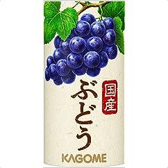 【ドリンクの新商品】カゴメ 国産ぶどうジュース 125ml×30本
