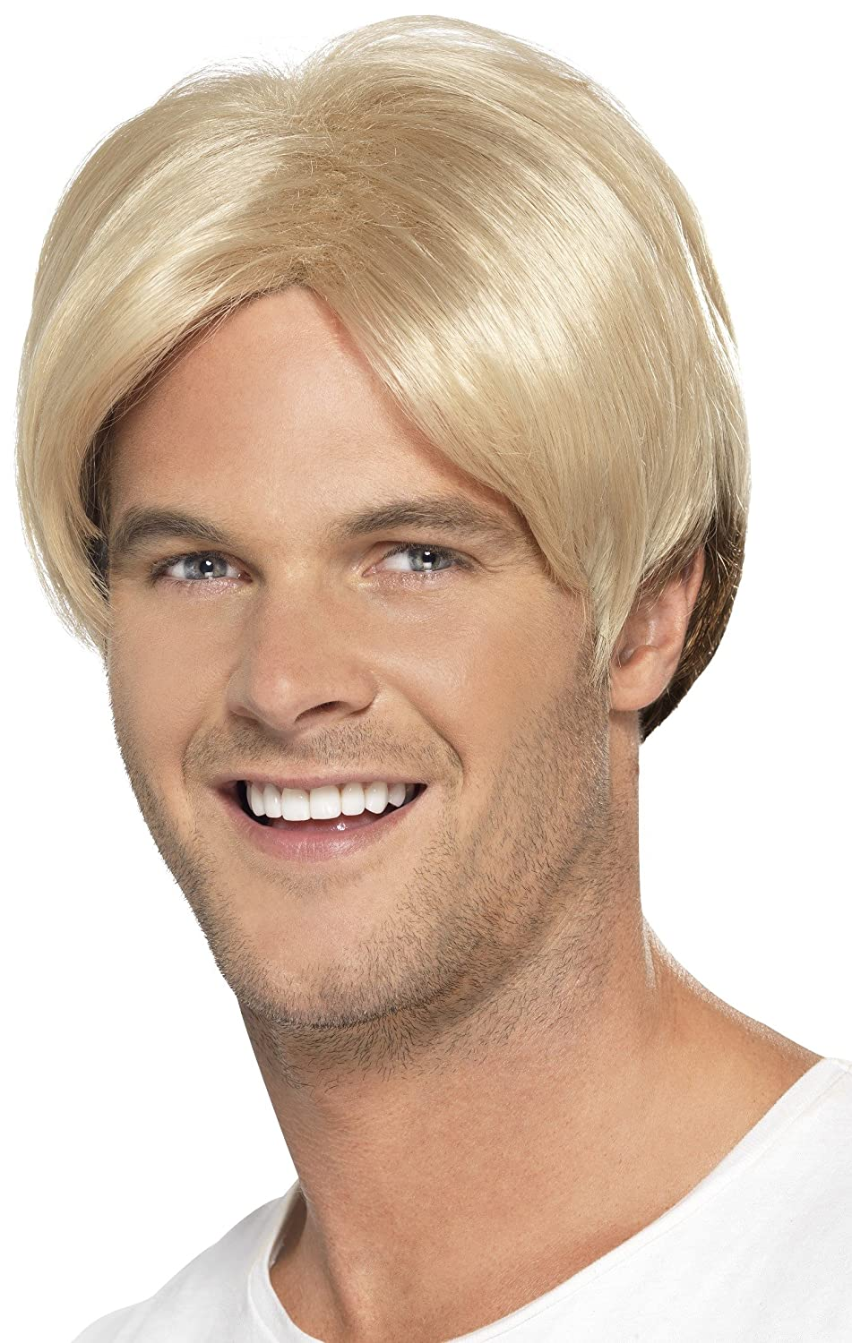 Amazon Smiffys Mens Short Blonde Wig With Centre Part One